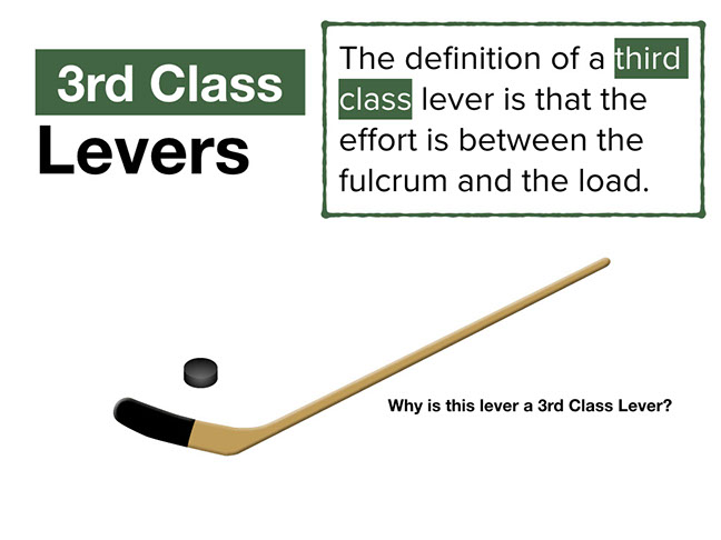 A Hockey Stick Is A Great Example Of A Third Class Lever. You May Want To  Ask Students Where They Should Place Their Hands When Swinging At A Hockey  Puck.