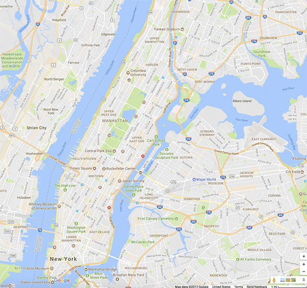 L6.3a Central Park Google Map on